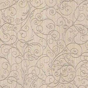 Z1756 Coord Zeno Scroll Beige Brewster Wallpaper