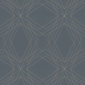 2908-87107 Relativity Geometric Charcoal Brewster Wallpaper