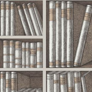 114/15029-CS EX LIBRIS Stone Linen Cole & Son Wallpaper
