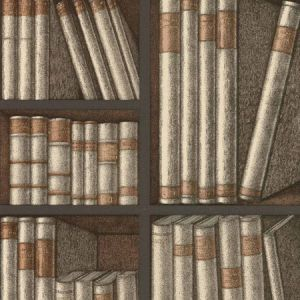 114/15030-CS EX LIBRIS Oat Charcoal Cole & Son Wallpaper