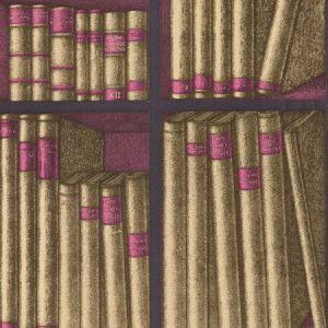 114/15031-CS EX LIBRIS Gold Magenta Cole & Son Wallpaper