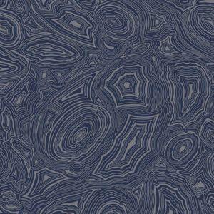 114/17034-CS MALACHITE Midnight Silver Cole & Son Wallpaper