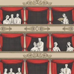 114/18037-CS TEATRO Linen Rouge Cole & Son Wallpaper