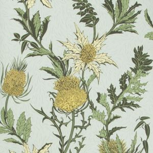 115/14042-CS THISTLE Lemon Olive Duck Egg Cole & Son Wallpaper