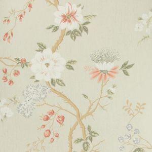 115/8024-CS CAMELLIA Coral Duck Egg Ednil Cole & Son Wallpaper
