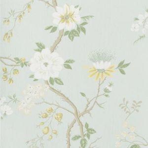 115/8025-CS CAMELLIA Lemon Sage Prime Blue Cole & Son Wallpaper