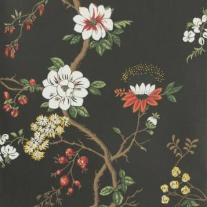 115/8026-CS CAMELLIA White Red Charcoal Cole & Son Wallpaper
