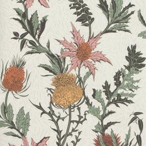 115/14043-CS THISTLE A Pink Orange Parchment Cole & Son Wallpaper