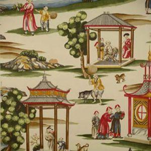 WP81584A-002 SHANGHAI Multi On Tea Stain Scalamandre Wallpaper