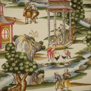 WP81584B-002 SHANGHAI Multi On Tea Stain Scalamandre Wallpaper