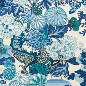 177311 Chiang Mai Indoor Outdoor China Blue Schumacher Fabric