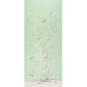 175043 Schumacher Chinois Palais Aquamarine Fabric