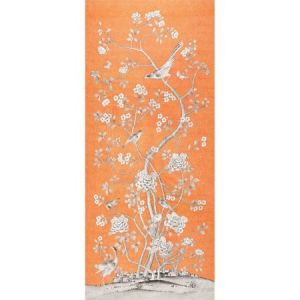 175044 Schumacher Chinois Palais Tangerine Fabric