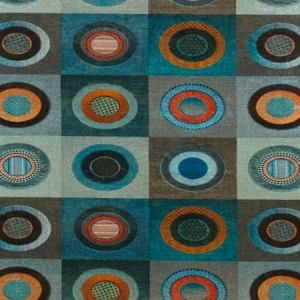 Mulberry Home Dress Circle Velvet Teal Fabric