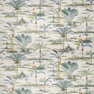 Vervain Island Palms Copen Fabric