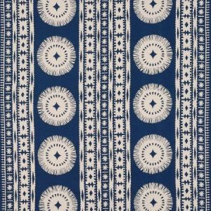 Schumacher Bora Bora Print Marine Fabric