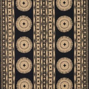 Schumacher Bora Bora Print Lava Black Fabric