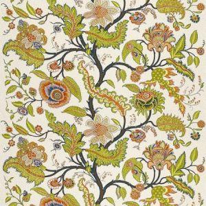 Schumacher Sinhala Linen Print Bittersweet Fabric
