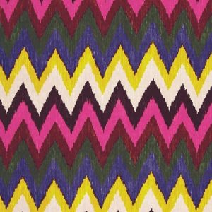 Schumacher Adras Ikat Print Jewel Fabric