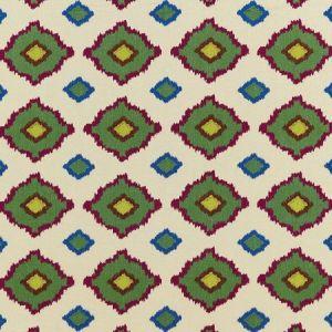 Schumacher Sikar Embroidery Jewel Fabric