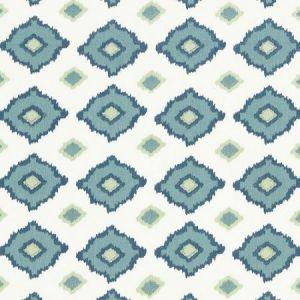 Schumacher Sikar Embroidery Sky Fabric