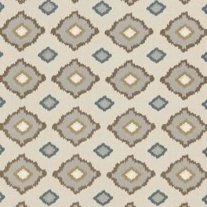 Schumacher Sikar Embroidery Flax Fabric