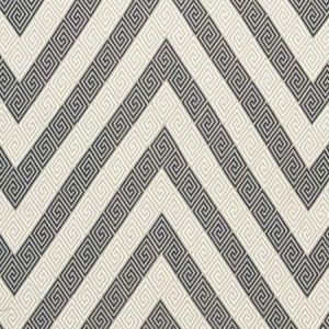 Schumacher Nebaha Embroidery Charcoal Fabric