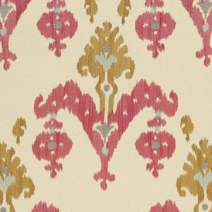 Schumacher Raja Embroidery Caravan Fabric
