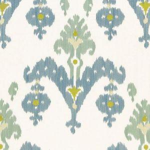 Schumacher Raja Embroidery Sky Fabric