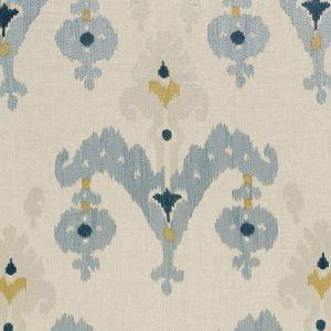 Schumacher Raja Embroidery Stone Fabric