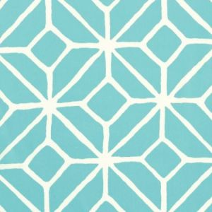 Schumacher Trellis Print Pool Fabric