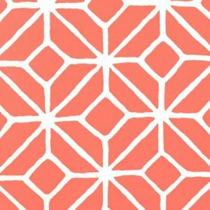 Schumacher Trellis Print Watermelon Fabric