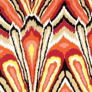 Schumacher Peacock Print Punch Fabric