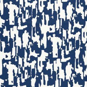 Schumacher Beauty Bark Print Ocean Fabric