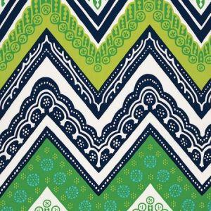 Schumacher Tangier Frame Print Sea Grass Fabric