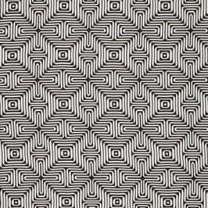 Schumacher Amazing Maze Kohl Fabric
