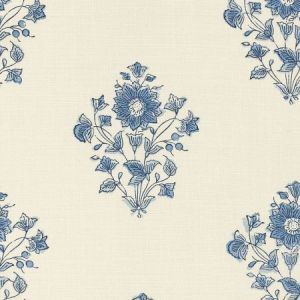 Schumacher Beatrice Bouquet Indigo Fabric