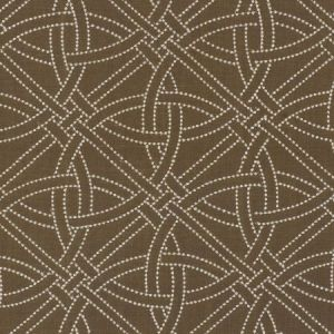Schumacher Durance Embroidery Truffle Fabric