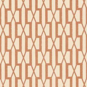 Schumacher Belvedere Burnt Orange Fabric