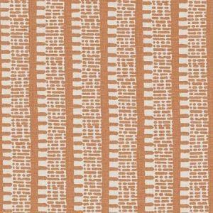 Schumacher Kiosk Burnt Orange Fabric