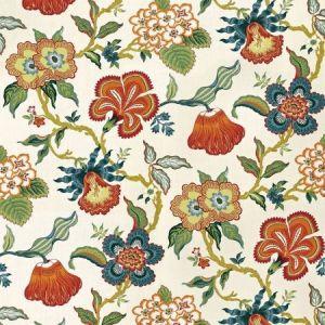 174031 Schumacher Hothouse Flowers Spark Fabric