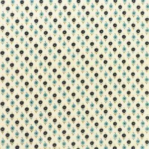 Schumacher Avodica Embroidery Aegean Fabric