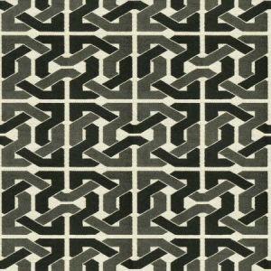 Groundworks Cliffoney Black Grey Fabric