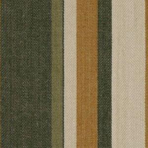 Groundworks Drummond Stripe Gold Sepia Fabric