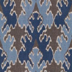 Groundworks Bengal Bazaar Grey Indigo Fabric