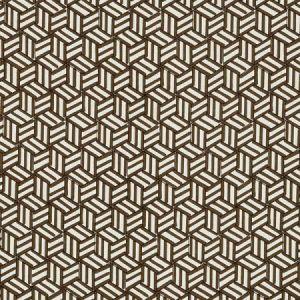 Schumacher Tumbling Blocks Chocolate Fabric