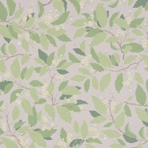 Schumacher Dogwood Leaf Grisaille Fabric