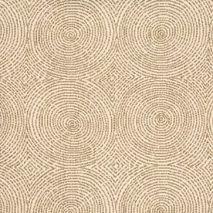 Vervain Crop Art Circles Walnut Fabric