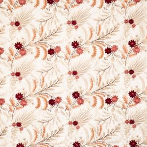 Vervain Fleur De Mer Crimson Coral Fabric