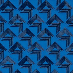 Schumacher V Step Cobalt Fabric